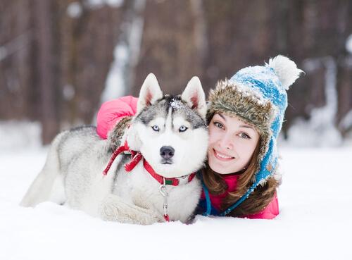 perro mujer
