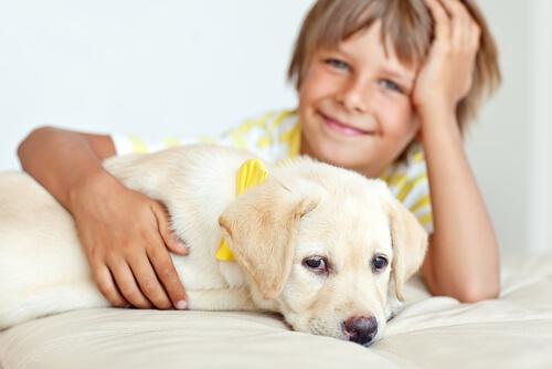 El perro es el mejor amigo de los niños