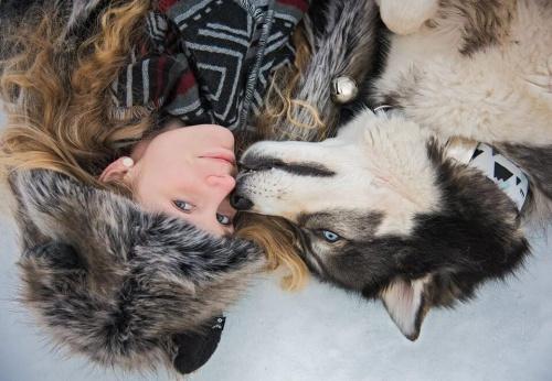 perro rescatado salva a su dueña