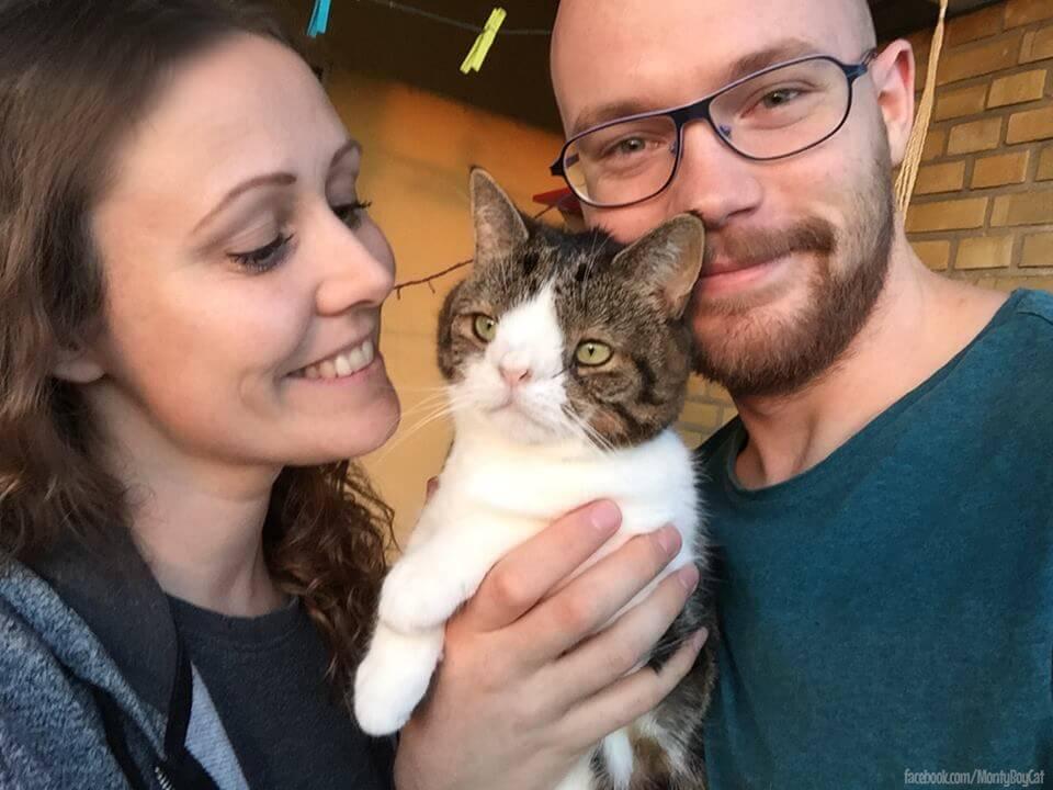 monty, un gato con sindrome de down