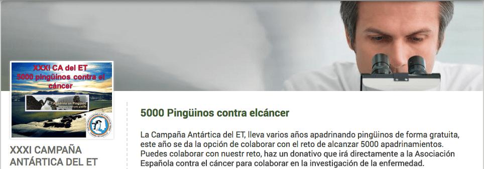 Asociación Española Contra el Cáncer: pingüinos