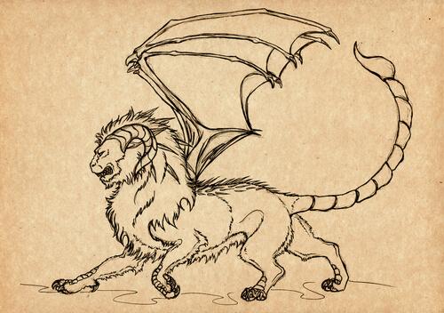 Mantícora: mitología