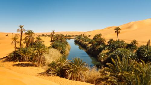Geografía del desierto del Sáhara.