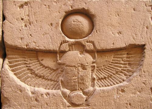 Escarabajo del Antiguo Egipto