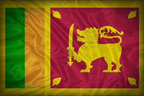 Animales en banderas de países: Sri Lanka