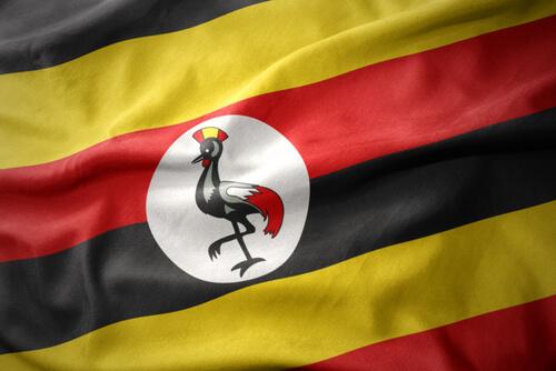 Animales en banderas de países: Uganda