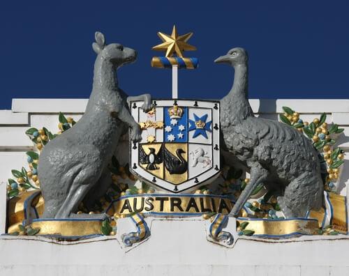 Los animales en escudos de países