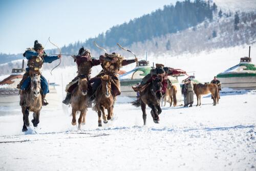Los caballos de Mongolia