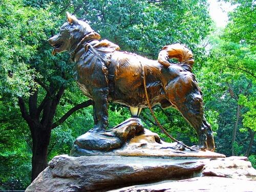 Monumento a Balto en Nueva York