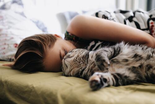 5 cosas que tener en cuenta antes de dormir con tu gato