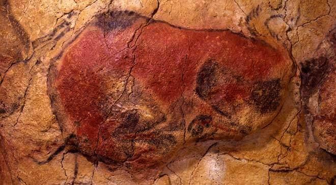 Bisonte recortado de Altamira