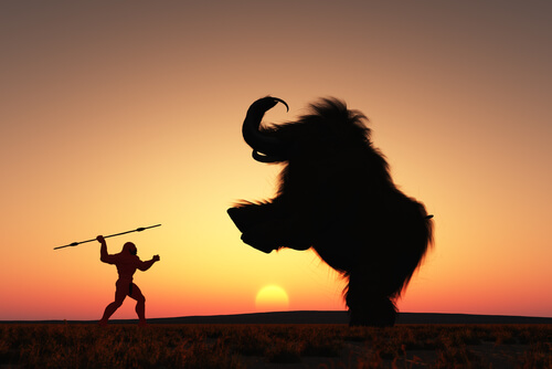 Caza de mamuts en la prehistoria