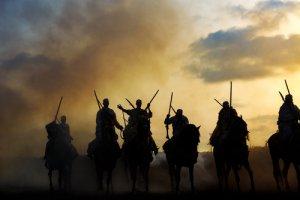 Caballos berberiscos en la guerra