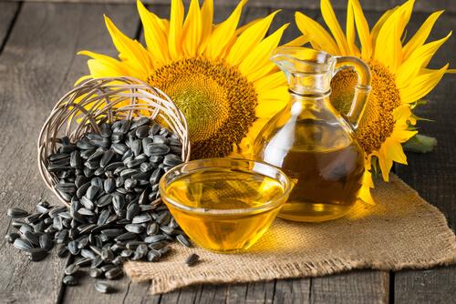 Pipas y aceite de girasol