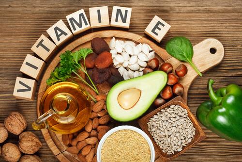 La vitamina E es uno de los antioxidantes en la comida para perros