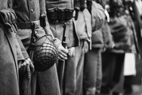 Soldados de la Segunda Guerra Mundial.