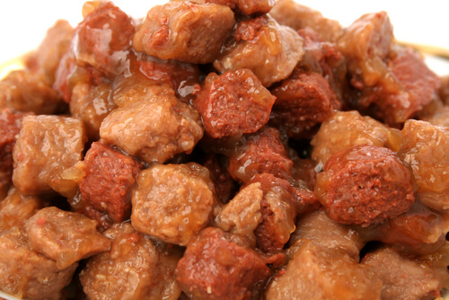Comida enlatada para perros