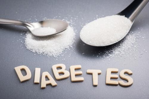 Cucharadas de azúcar y letras de diabetes