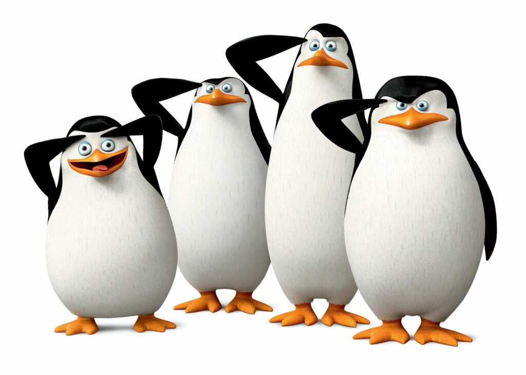 Los pingüinos de Madagascar, una serie de contrastes