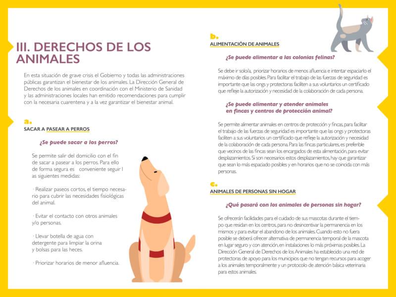 Derechos de los animales durante la cuarentena.