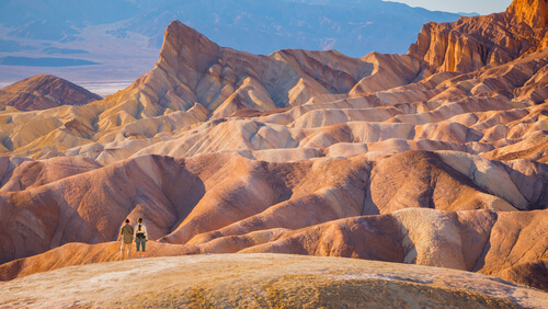 Montañas en el desierto.