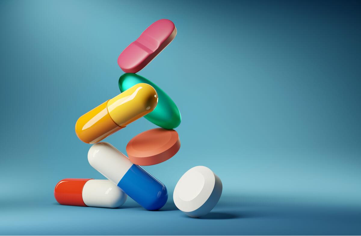Foto de cerca de unos antibióticos.