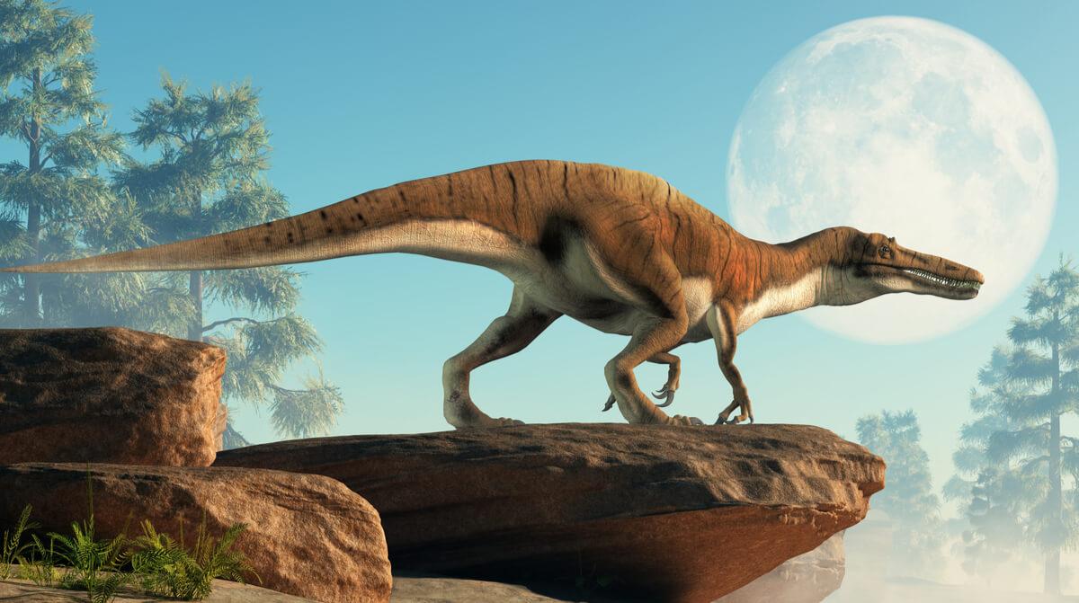 Un dinosaurio grande.
