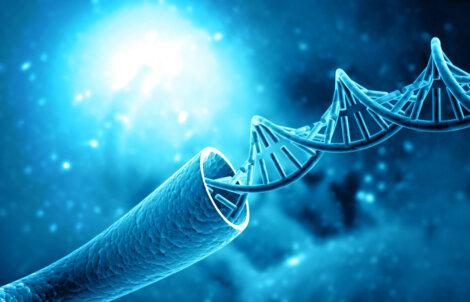 Dibujo de una hebra de ADN.