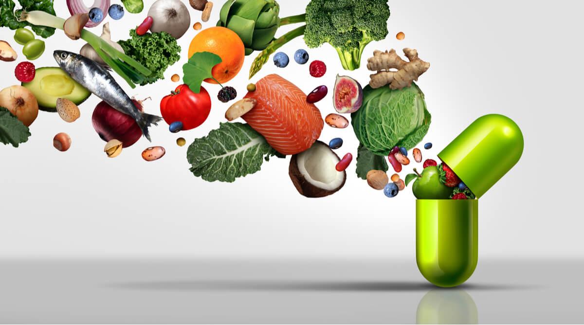 Concepto de vitaminas.