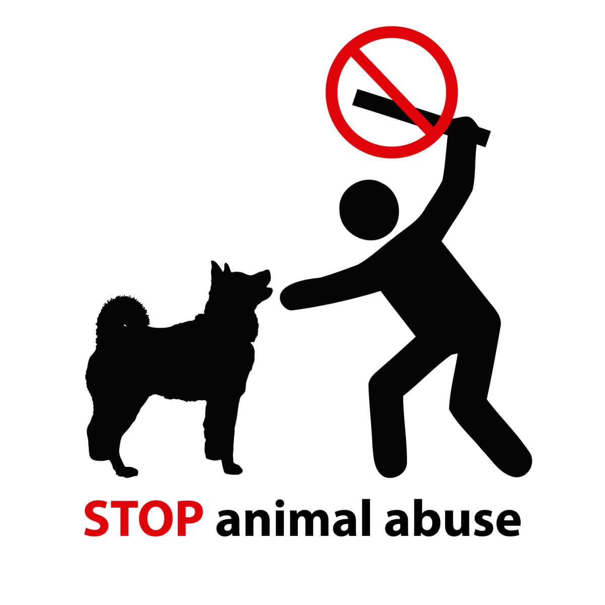 Un vector de un abusador animal.