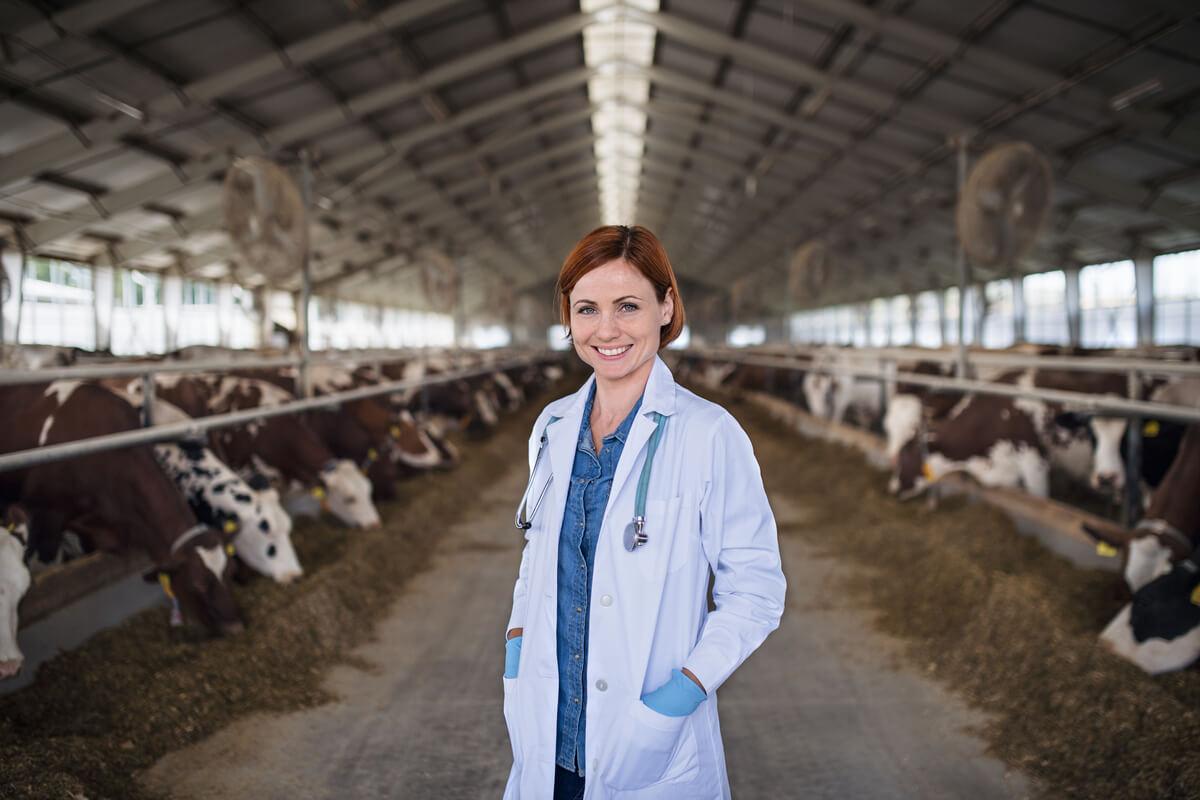 Trabajadora de la organización mundial de la sanidad animal.