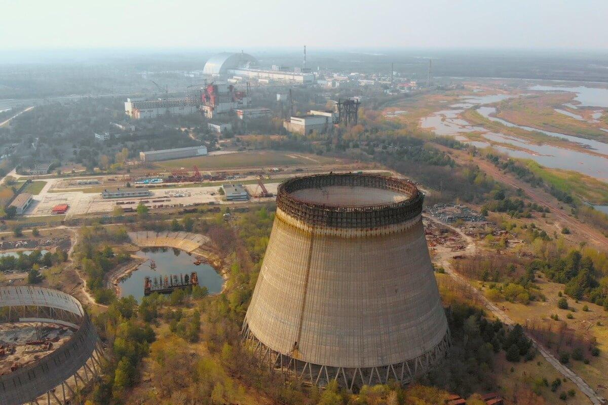 Una vista panorámica de Chernobyl.