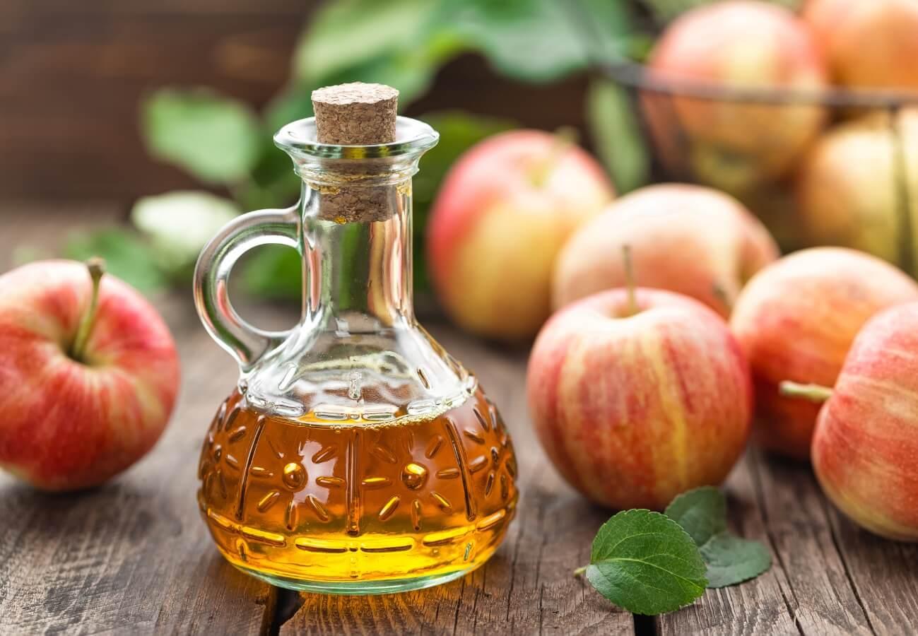 Apple cider vinegar for dogs.