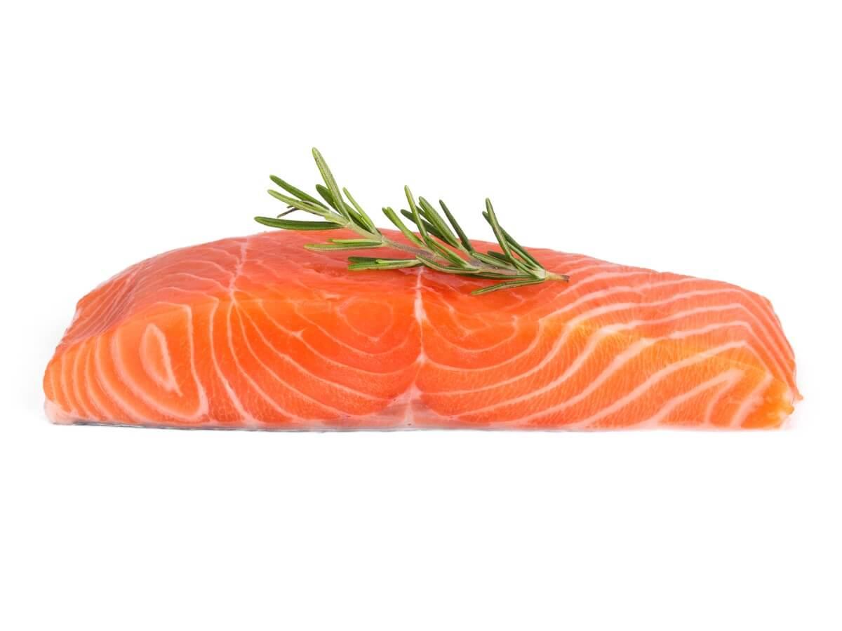 Un morceau de saumon.