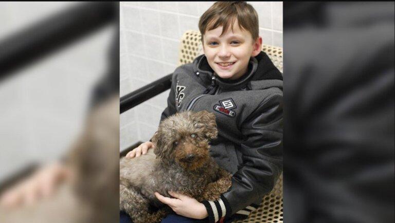 Niño adopta al perro más viejo en el refugio